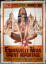 manifesto 4F film EMANUELLE NERA IN BANGKOK Laura Gemser Joe D'Amato 1976