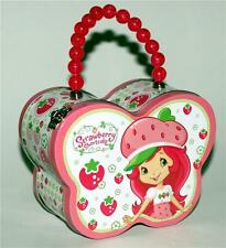 "STRAWBERRY SHORTCAKE Butterfly Shape TIN TOTE PURSE BAG SNACK HOBBY BOX 6"" New"