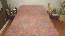 Charter Club Paisley Duvet Cover Blue Red Yellow AWESOME! Full Queen 100% Cotton