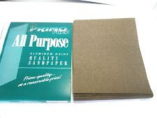 50 SHEETS 9 X 11  SANDPAPER ALUMINIUM OXIDE  GRIT 80 MADE IN CHINA
