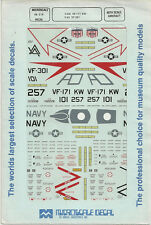 1/48 MicroScale Decals US Navy Phantom F-4N VF-171 KW & F-4S VF-30 48-218
