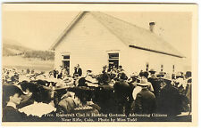 Pres. Teddy Roosevelt Clad in Hunting Costume Near Rifle, CO Postcard