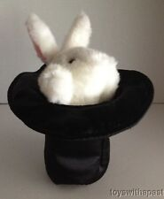 RABBIT IN HAT Hand Puppet Plush Magician Dress-Up Halloween Bunny Jerry Elsner