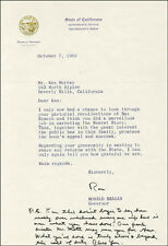 RONALD REAGAN - TYPED LETTER SIGNED 10/07/1969