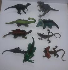 Lot of 9 Dinosaur Toys