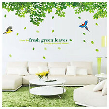 Removable Home Living Room DIY Mural Bird Leaves Wall Sticker Homer Decor New