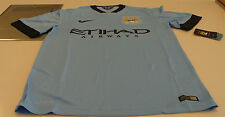 2014-15 Manchester City FC Soccer Home Jersey Short Sleeves Premier League S