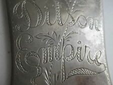 Vintage Ditson Empire Mandolin Tuners Cover Plate Engraved Part for Project