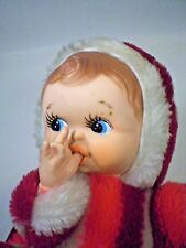 "Rubber Face Baby Doll Candy Stripe Thumb Sucking RARE Vintage 10"" Rubberface Toy"