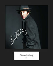 TBBT SIMON HELBURG #1 10x8 Mounted Signed Photo Print (Reprint) - FREE DELIVERY
