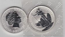 2004 TWO POUNDS SILVER ONE OUNCE BRITANNIA IN MINT CONDITION