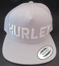 MENS HURLEY STADIUM SNAPBACK ASH GRAY HAT ADJUSTABLE CAP ONE SIZE