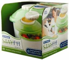 Cool Gear White & Green Stay Fit Salad Kit by Spearmark - Free 1st Class Post
