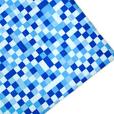 Blue Pixels Print Arts & Crafts Upholstery Fabric Polycotton Textile Material