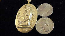 bling gold plated ancient egyptian pharaoh Charm Pendant hip hop chain Necklace