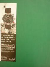 5/2006 PUB MONTRE HANHART UHR WATCH PIONEER RED X AUTOMATIC ORIGINAL GERMAN AD