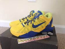 "Nike Zoom Kobe 7 VII System "" Barcelona"" Yellow / Blue size 9.5 us Pre owned"
