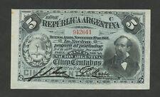 ARGENTINA - 5 centavos  1891  P209  Uncirculated  ( World Paper Money )