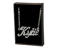 "Name Necklace ""KYLIE"" - 18ct White Gold Plated - Identity Crystals Jewellery"