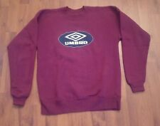 RARE VINTAGE  UMBRO MENS ADULT SMALL SOCCER CREW NECK SWEATER L/S PURPLE