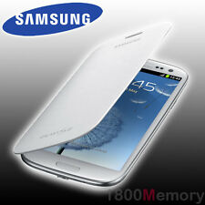 GENUINE Samsung Galaxy S3 Flip Cover Case GT-i9300 i9305 i9306 i9307 i9308 White
