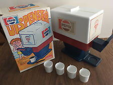 Vintage Pepsi Toy Drink Dispenser (1960s collectible) with box and 4 cups