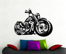 Motorbike Wall Decal Harley Davidson Chopper Vinyl Sticker Boys Room Decor 8mtz