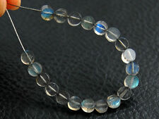 Small Natural Labradorite Faceted Round Coin Gemstone Beads 4mm.