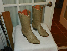 Vintage Women's Justin Fort Worth Gray Cowboy Western Boots size 7B