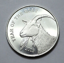 2015 Year of The Goat ,1 oz .999 Pure Silver Round, Bullion , Unc , Made in U.S.