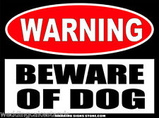 Beware of Dog  Warning Sign Bumper Sticker Decal  WS425