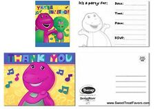 BARNEY Dinosaur Party Supplies INVITATIONS Birthday Decoration Thank you Notes 8