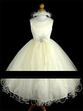Ivory Satin  Tulle  Bridesmaid/Flower Girl/Communion  dress 9-10 years
