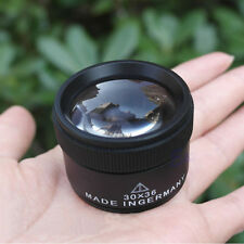 Portable 30x36mm Jeweler Loupes Magnifier Tool Glass Lens Pocket Microscope