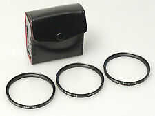 (PRL) SET KIT FILTRI TAMRON CLOSE UP LENTI MACRO +1 +2 +3 MICRO FOTOGRAFIA 58 mm