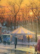"Thomas Kinkade Limited Edition Lithograph canvas "" Town Square"""