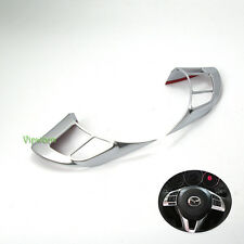 2X Chrome Steering Wheel Trim Decor Cover for Mazda 6 ATENZA 2014