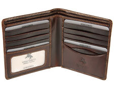 Visconti Mens Bifold Real Italian Leather Wallet For Credit Cards, Notes - ENO2