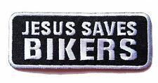 Ecusson Patch brodé thermocollant Jesus Saves Bikers