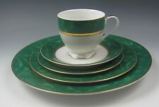 GSP China CASMALIA/Dior China MALACHITE-GREEN 5 Piece Place Setting(s) EX