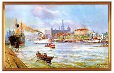 Deutsches Reich Stettin Hafen 1909 Gemälde Stöwer 19 LW