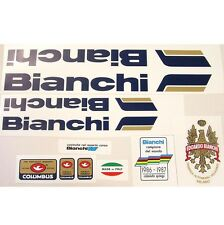 Bianchi 80s decal set choices for vintage Italian steel classic bicycle