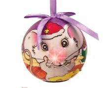 Twinkling Treasures Christmas MOUSE Blinking Nose Ornament - Eye Catching