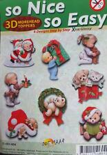Easy 3D Die Cut Card Toppers Christmas 8 Designs