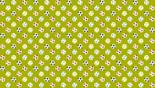 Cuarto gordo los balones de fútbol Soccer Sport Algodón Colchas de retazos de tela makower 1407