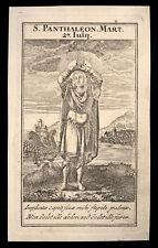 santino incisione 1700 S.PANTALEONE MEDICO M.