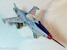 "TINPLATE TIN TOY""MF103 SUPER SONIC JET PLANE"" FRICTION DRIVE CHINA C1960S"