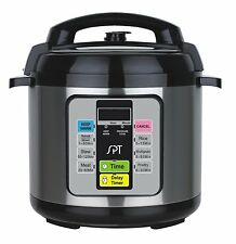 1000 Watt 6.5 Quart Stainless Steel Instant Fast Electric Pot Pressure Cooker