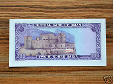 Oman 200 Baisa 1994  P-23c  UNC BANKNOTE CURRENCY ASIA Rustaq Fort