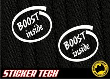 BOOST INSIDE DELL STICKER DECAL SUITS TURBO INTERCOOLER BOV WRX SUPRA SKYLINE